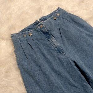 Vintage 80s Retro Limited High Waist Pleated Jeans